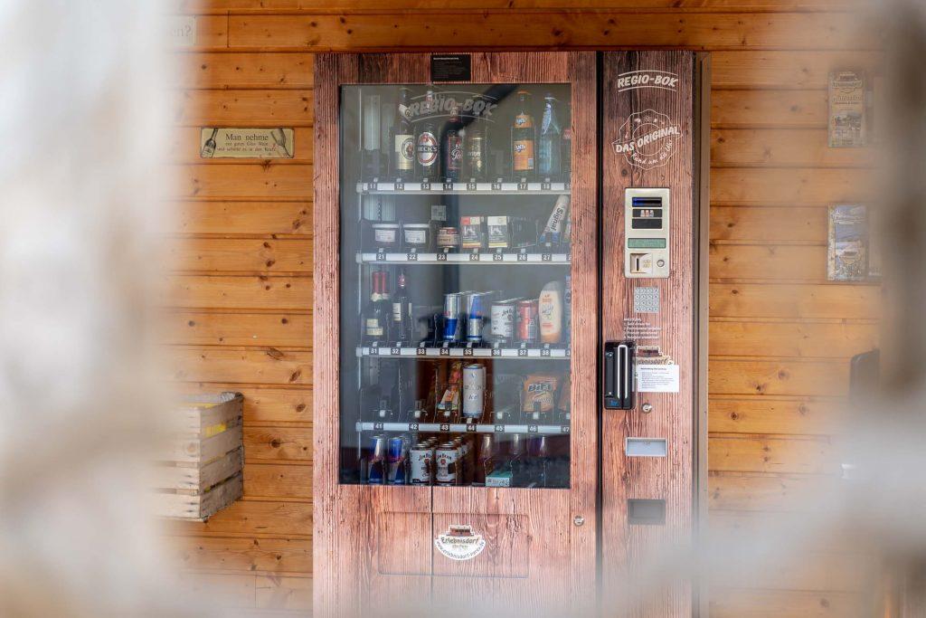Erlebnisdorf Elbe Parey Getränkeautomat