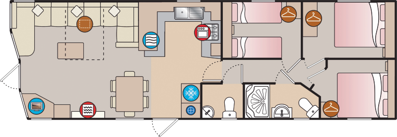 Holiday home layout