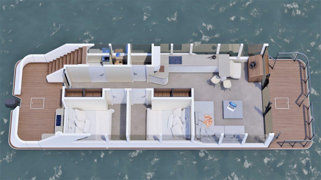 Grundriss Luxboot