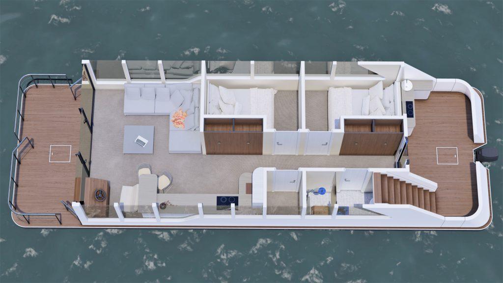 Grundriss Hausboot